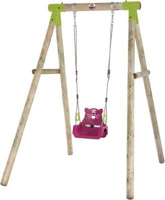 Plum Quoll Wooden Pole Swing Set.