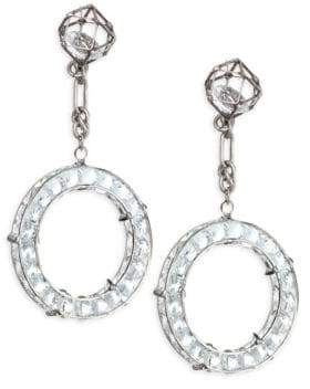 Dannijo Vladd Crystal Chain Drop Earrings
