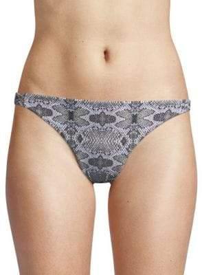 Rachel Roy Geometric-Print Bikini Bottom