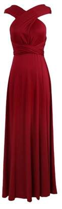 OUTAD Women Sleeveless Halter Bandage Ball Gown Multiway Convertible Long Dresses