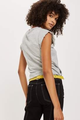 Topshop Slubby Lettuce T-Shirt