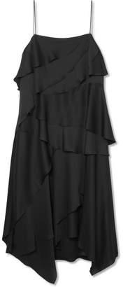 Jason Wu GREY - Layered Washed-satin Midi Dress - Black
