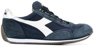 Diadora stonewash canvas and suede trainers
