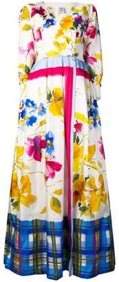 Sara Roka floral print maxi dress