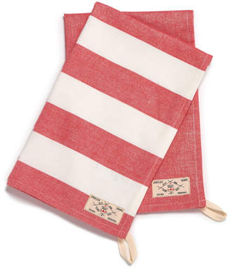 Joules Classic Tea Towel - 2 Pack - French Red Stripe