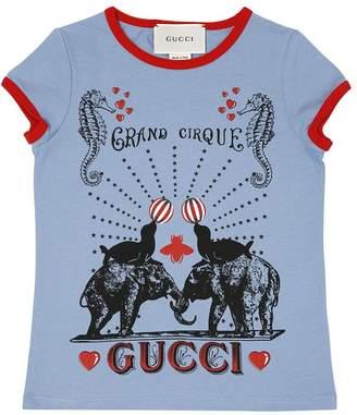 Gucci Circus Printed Cotton Jersey T-Shirt