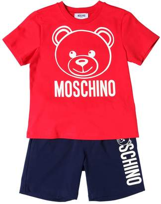 Moschino Printed Jersey T-Shirt & Sweat Shorts