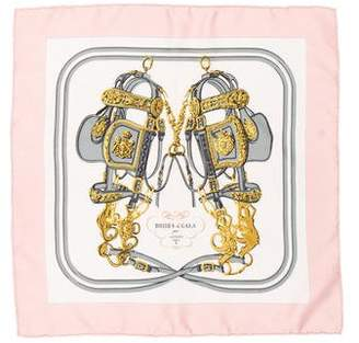 Hermes Brides de Gala Silk Pocket Square