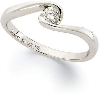 Sirena Diamond Engagement Ring in 14k White Gold (1/8 ct. t.w.)