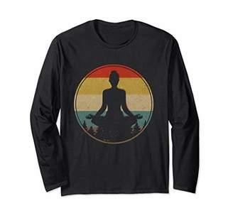 Vintage-Yoga-Pose Sunset Old School Long Sleeve T-Shirt