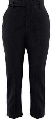 Rick Owens Cropped Wool-Blend Straight-Leg Pants