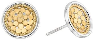 Anna Beck Plated Dish Stud Earrings