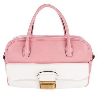 Miu Miu Miu Miu Bicolor Leather Satchel
