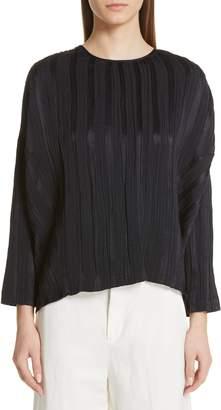 Zero Maria Cornejo Koy Plisse Linen & Silk Top