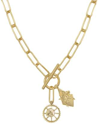Wanderlust + Co Bee Gold Xl Toggle Necklace