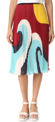 RED Valentino Pleated Skirt $1,050 thestylecure.com