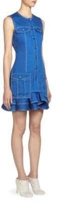 Givenchy Denim Ruffle Dress