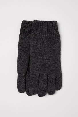 H&M Wool-blend Gloves - Gray