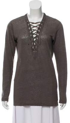 IRO Linen Long Sleeve Top