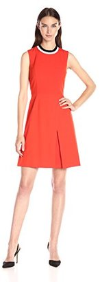 Tommy Hilfiger Women's Sporty Neck Bi-Stretch Fit and Flare Dress $129 thestylecure.com