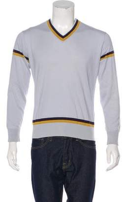 Paul Smith Striped V-Neck Sweater
