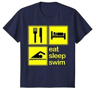 Swimming T-shirt Funny Eat Sleep Repeat
