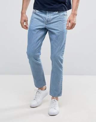 Asos Slim Ankle Grazer Jeans In Light Wash