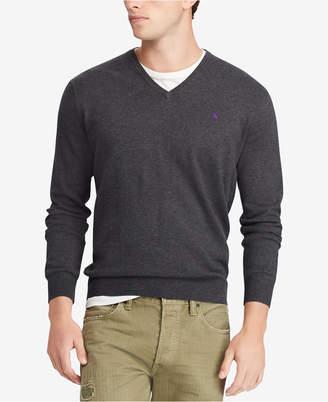 Polo Ralph Lauren Men's Big & Tall Cotton V-Neck Sweater