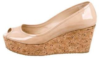 Jimmy Choo Peep-Toe Cork Wedges