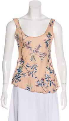 Just Cavalli Floral Print Sleeveless Top