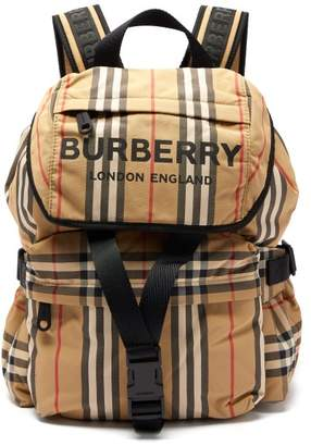 Burberry Wilfin Small Icon Stripe Backpack - Womens - Beige Multi