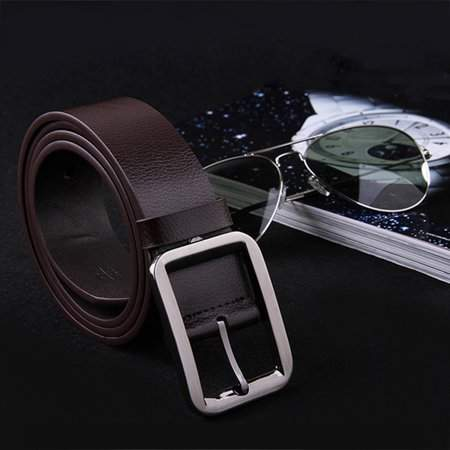 DOWL Belt Alloy Pin Buckle Waistband Genuine Leather Men Waist Wide Strap Casual