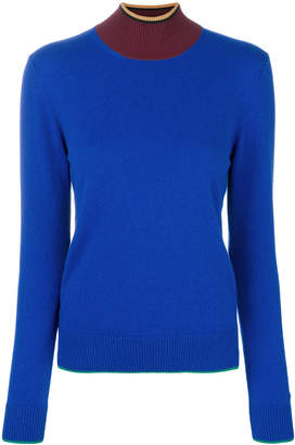 Marni colour block turtleneck jumper