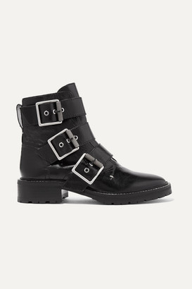 Rag & Bone Cannon Buckled Glossed-leather Ankle Boots