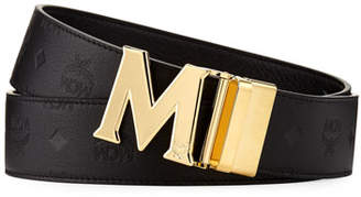 MCM Men's Embossed Leather Belt