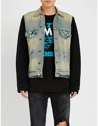 Amiri Two-tone denim trucker jacket