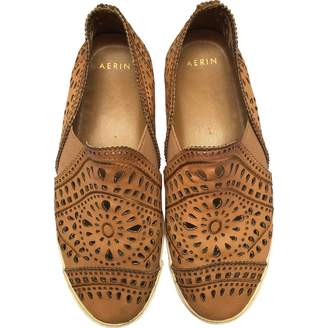 AERIN Brown Leather Flats