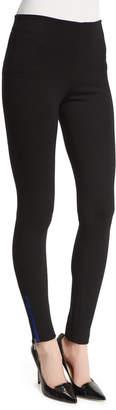 Armani Collezioni Leggings W/Contrast Ankle Zip, Black