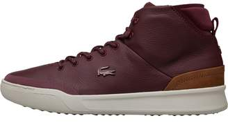 2a0a35fbdd30 Lacoste Mens Explorateur Classic CAM Hi Tops Burgundy Brown
