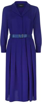 Akris Wool Crepe Shirt Dress