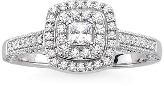 JCPenney MODERN BRIDE I Said Yes 3/8 CT. T.W. Diamond & Lab-Created Blue Sapphire Vintage-Style Ring