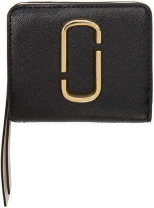 Marc Jacobs Black and Grey Mini Compact Wallet