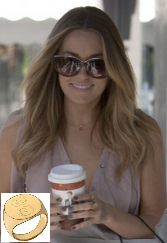 Jennifer Zeuner Jewelry Initial Signet Ring in Gold Vermeil or Silver as seen on Lauren Conrad