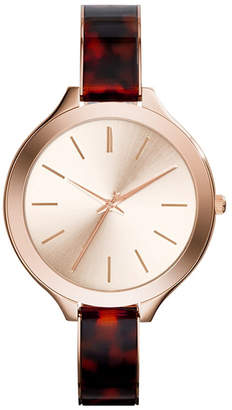 Adrienne Vittadini Collection Women Analog Quartz Brown Strap Watch
