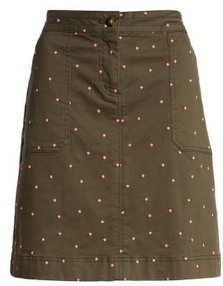 Boden Stretch Cotton A-Line Skirt