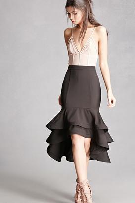 FOREVER 21+ Ruffled Layer Hem Skirt $38 thestylecure.com