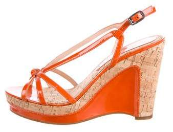 Marc by Marc Jacobs Patent Leather Platform Wedges