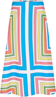 Emilia Wickstead Magali Printed Voile Midi Skirt