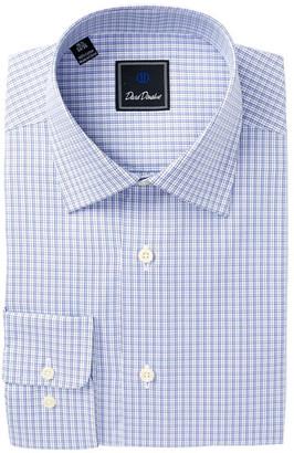 David Donahue Check Regular Fit Dress Shirt $135 thestylecure.com
