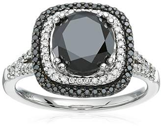 14k White Gold 3 and White Double Halo Engagement Ring (2 1/3cttw)